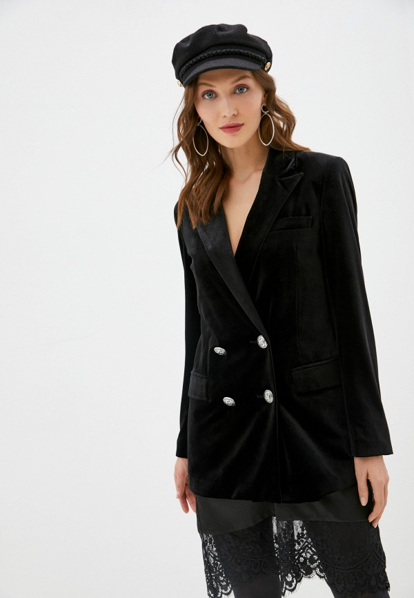 женский пиджак silvian heach, черный