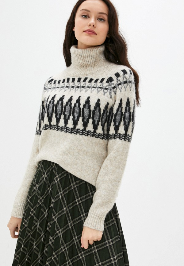 женский свитер silvian heach, бежевый