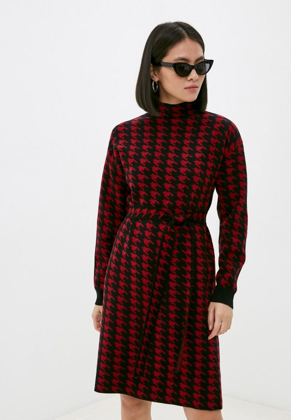 женское платье silvian heach, бордовое