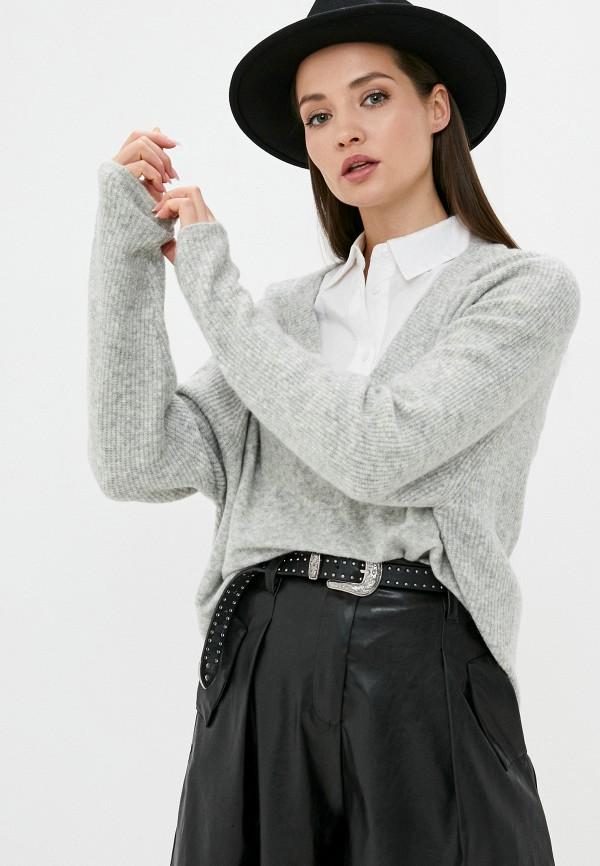 женский пуловер silvian heach, серый