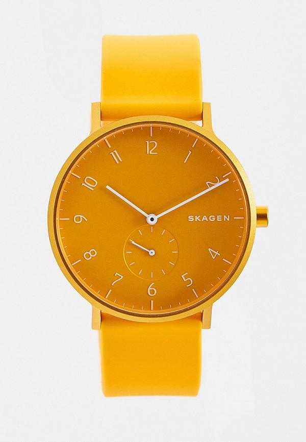 мужские часы skagen, желтые