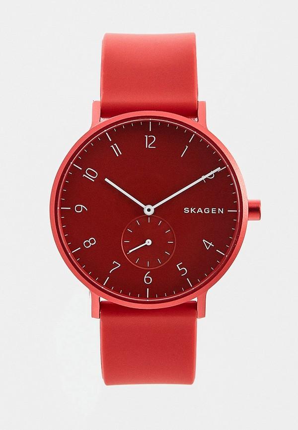 мужские часы skagen, красные