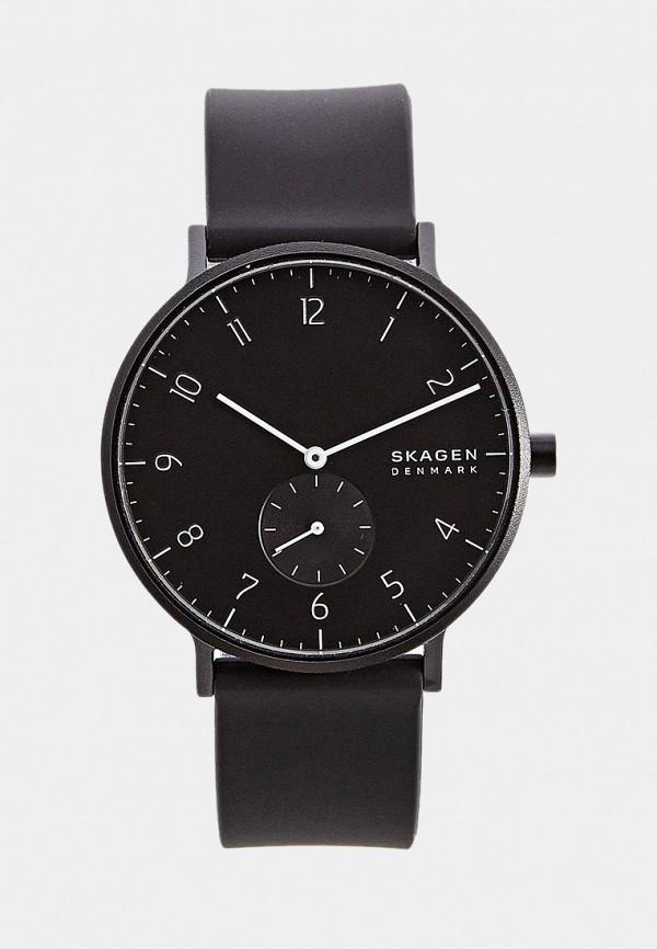 мужские часы skagen, черные