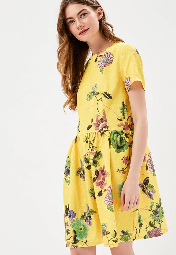 Купить Платье SK House, sk007ewater2, желтый, Весна-лето 2018