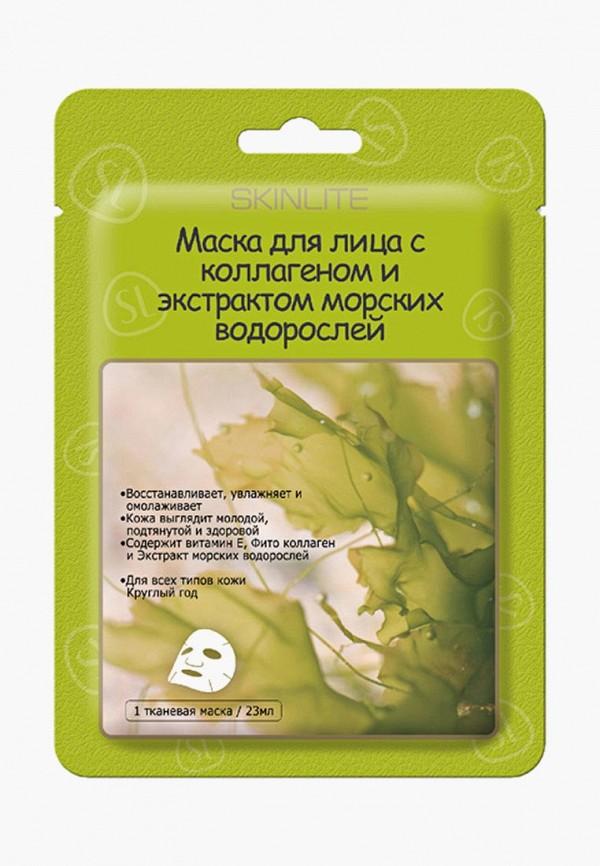 Купить Маска для лица Skinlite, Маска для лица с коллагеном и экстрактом морских водорослей, набор из 2 упаковок, sk009lwboaz2, прозрачный, Весна-лето 2019