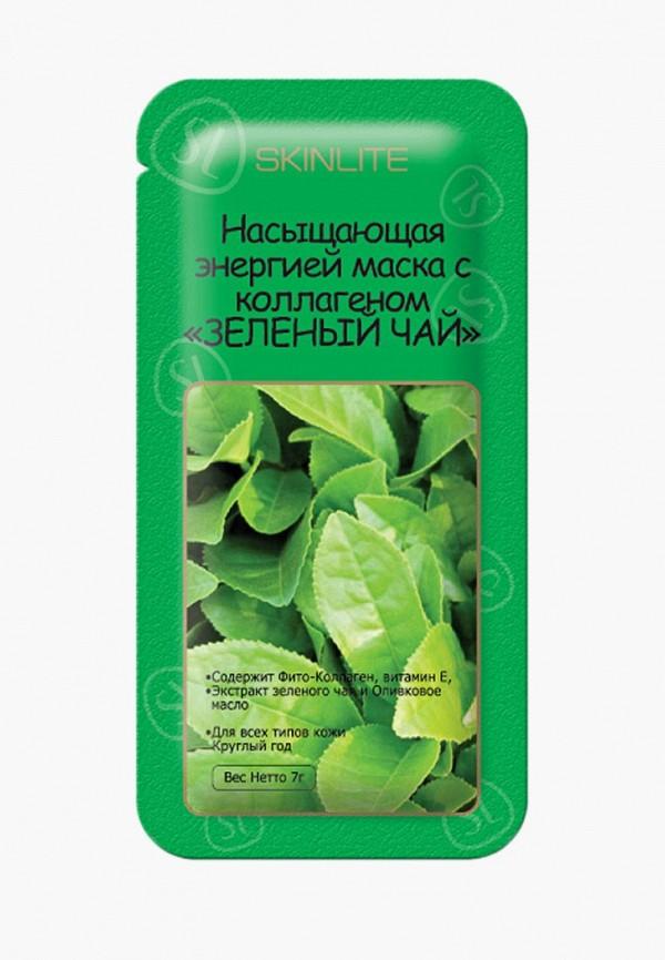 Купить Маска для лица Skinlite, Зеленый чай , с коллагеном, набор из 3 уп., SK009LWBOAZ5, белый, Осень-зима 2018/2019