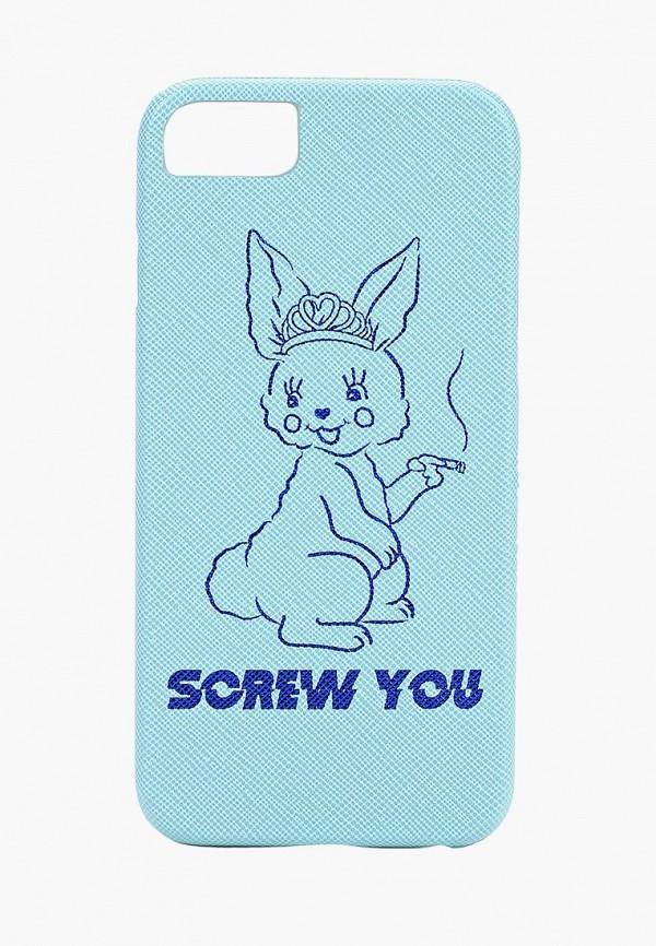 Купить Чехол для телефона Skinnydip, 6/6s/7/8 Screw You, sk010bwdfyj7, голубой, Осень-зима 2018/2019