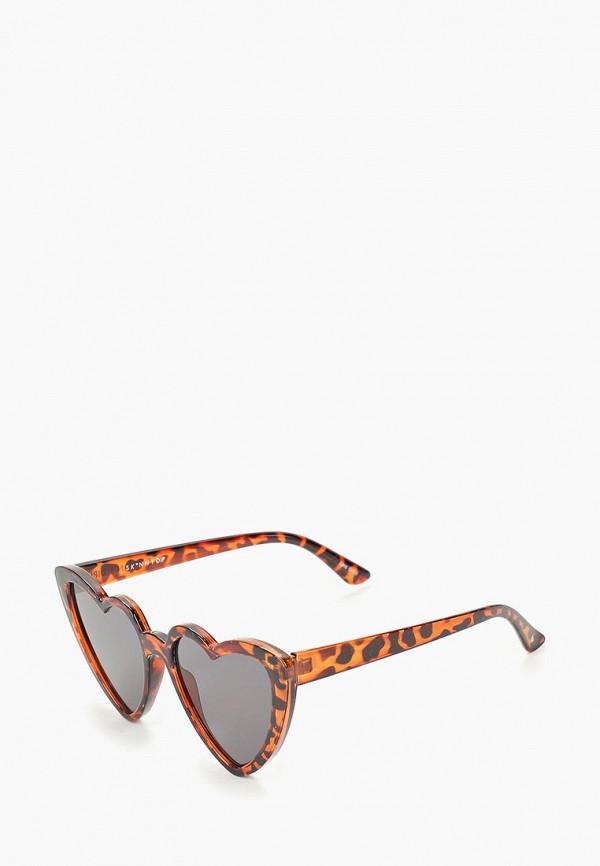 женские солнцезащитные очки skinnydip, коричневые