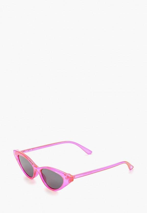 женские солнцезащитные очки skinnydip, розовые
