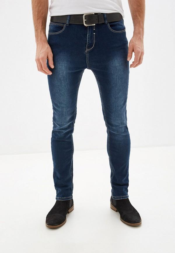 мужские зауженные джинсы sky rebel, синие