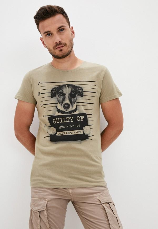 мужская футболка с коротким рукавом sky rebel, хаки