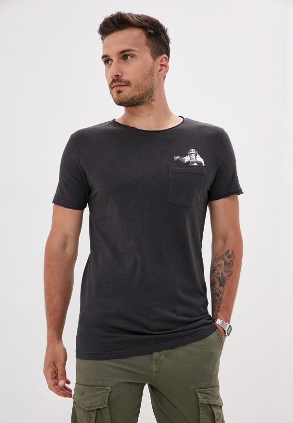 мужская футболка с коротким рукавом sky rebel, серая