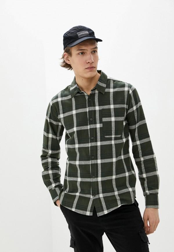 мужская рубашка с длинным рукавом sky rebel, зеленая