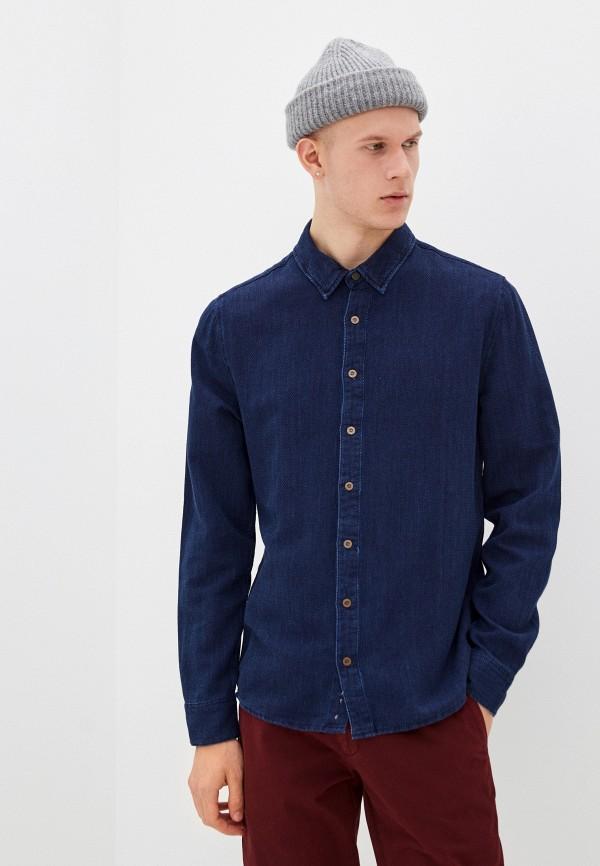 мужская рубашка с длинным рукавом sky rebel, синяя