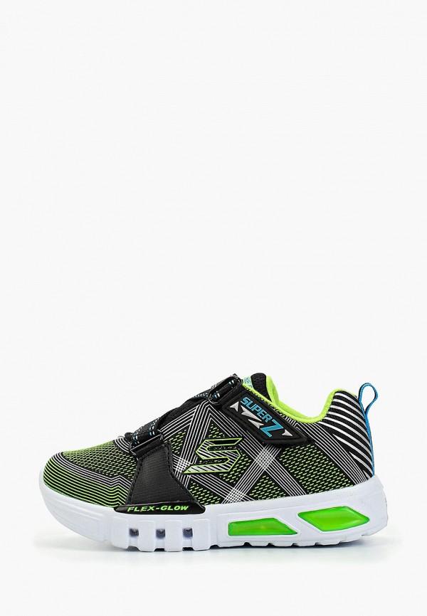 кроссовки skechers для мальчика, зеленые