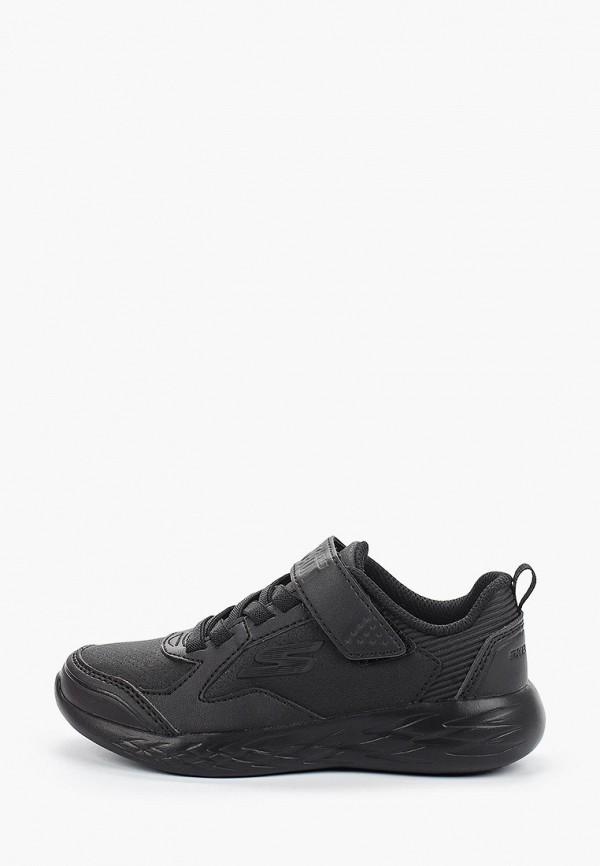 кроссовки skechers для мальчика, черные