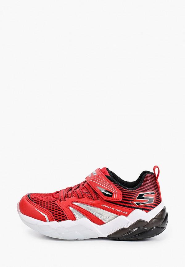 кроссовки skechers для мальчика, красные