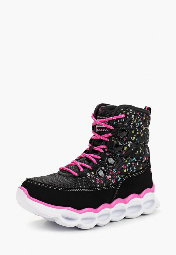 ботинки skechers для девочки, черные
