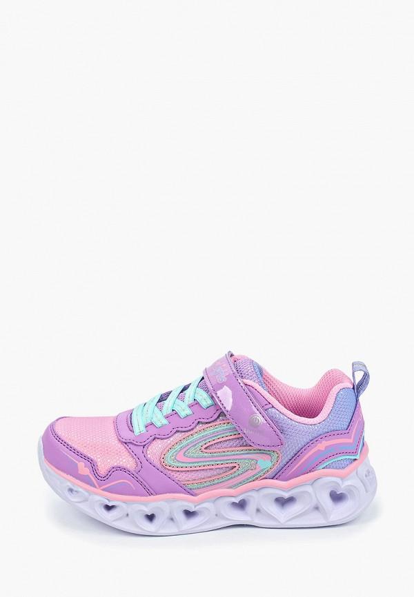 кроссовки skechers для девочки, фиолетовые