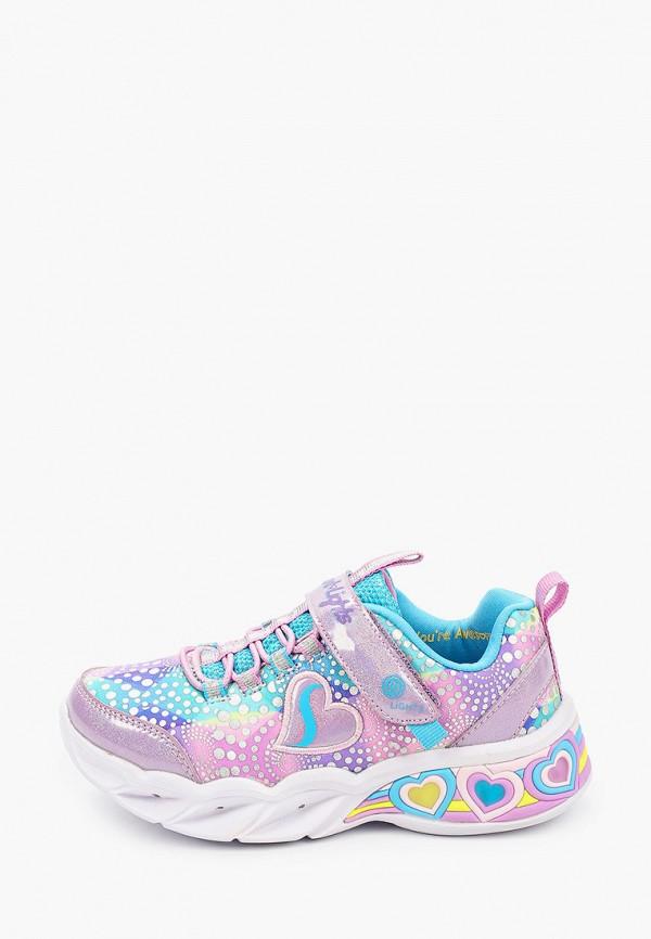 кроссовки skechers для девочки, разноцветные