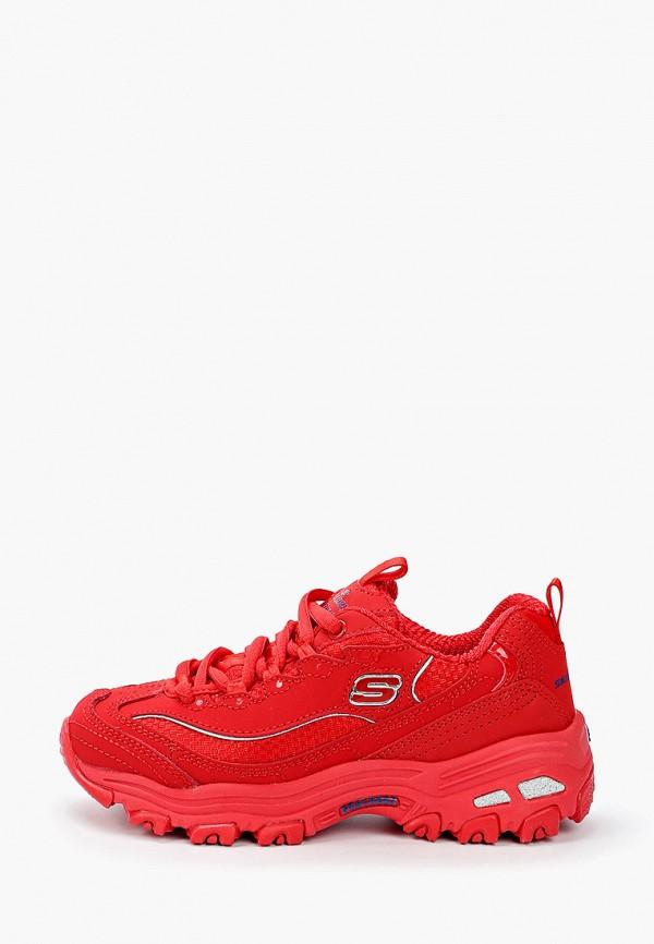 кроссовки skechers для девочки, красные