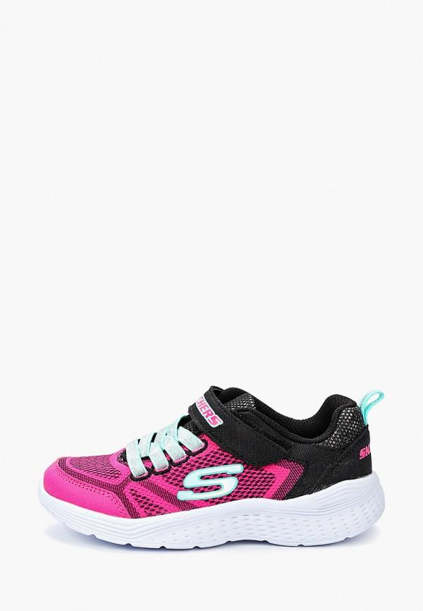 кроссовки skechers для девочки, розовые