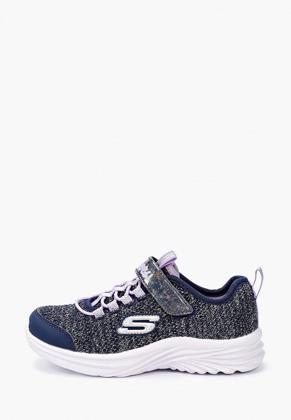 кроссовки skechers для девочки, синие