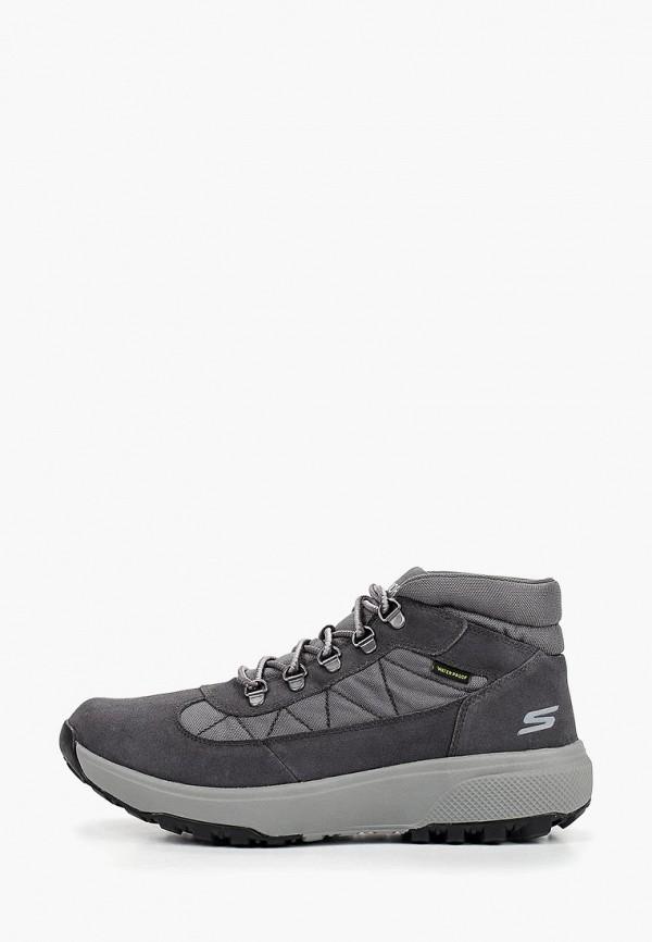 мужские ботинки skechers, серые