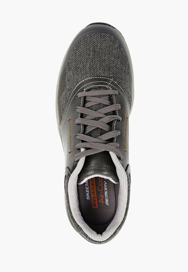 Фото 4 - мужские кроссовки Skechers серого цвета