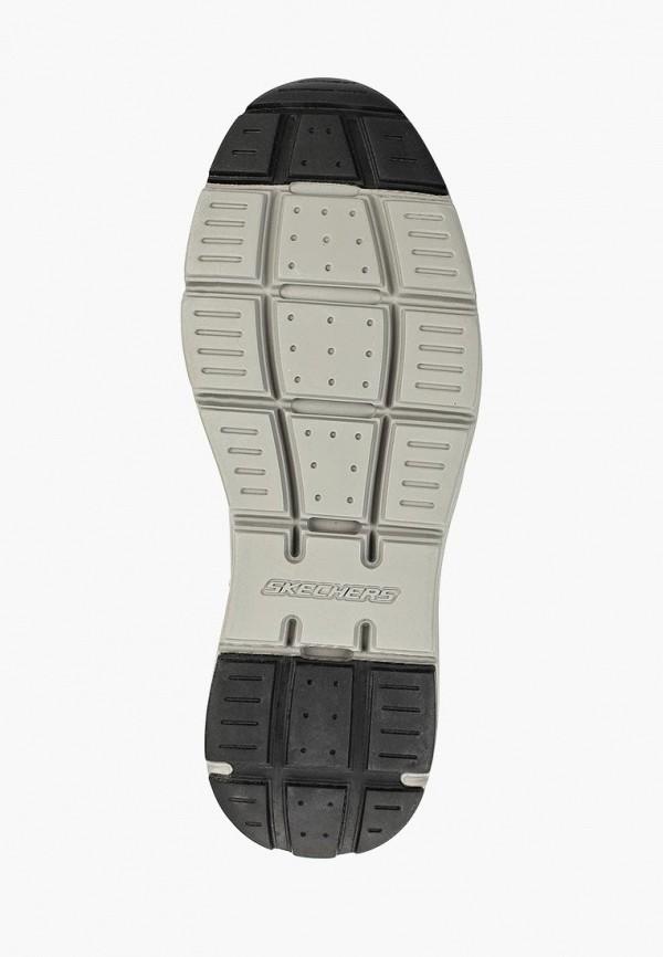 Фото 5 - мужские кроссовки Skechers серого цвета