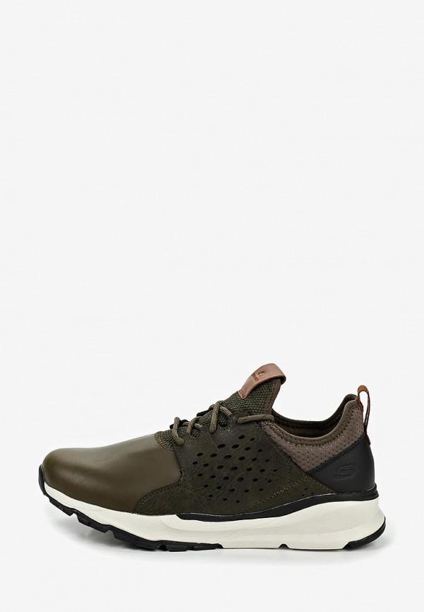Фото - мужские кроссовки Skechers цвета хаки
