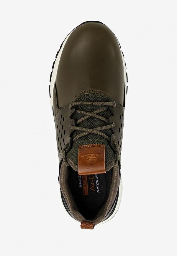 Фото 4 - мужские кроссовки Skechers цвета хаки
