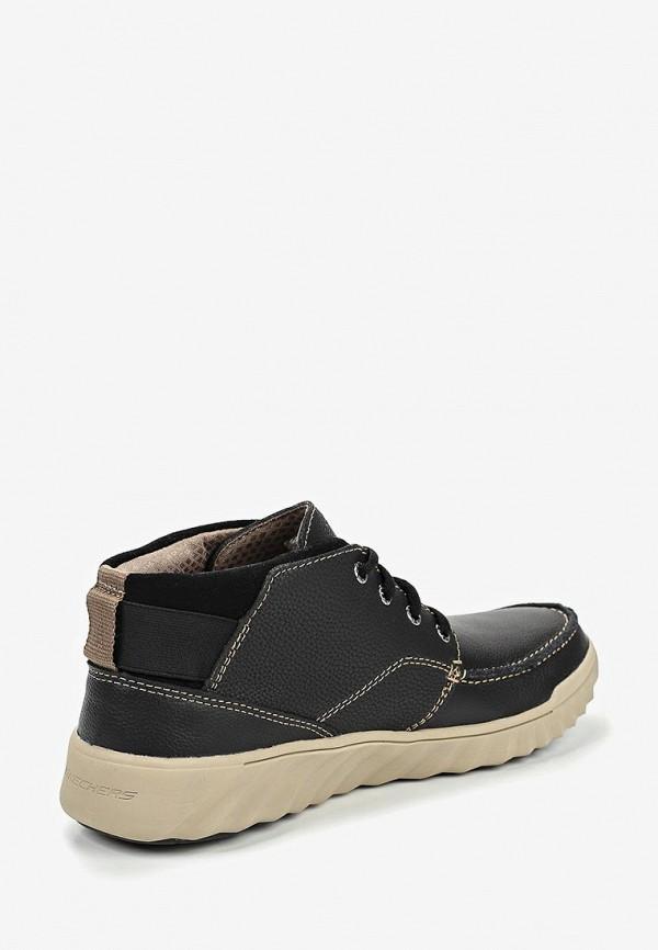 Фото 3 - мужские ботинки и полуботинки Skechers черного цвета