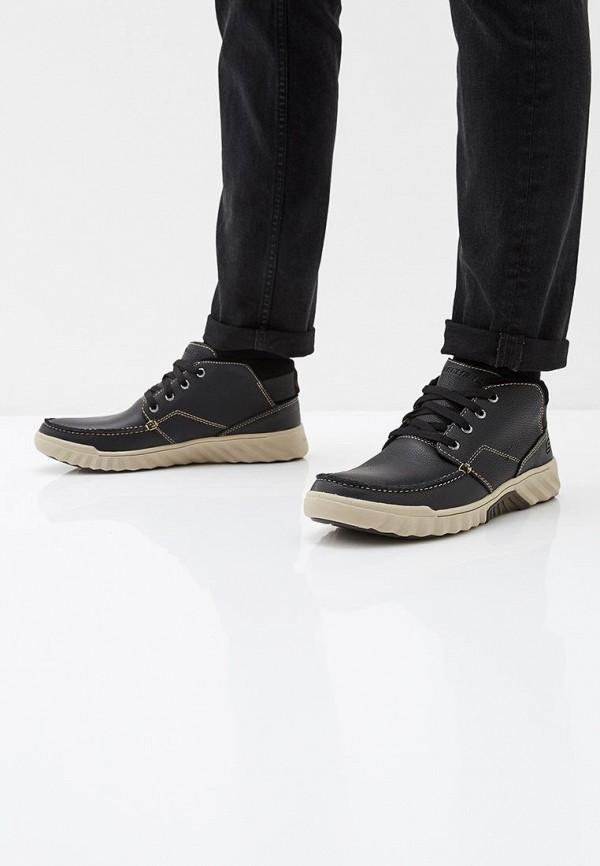 Фото 6 - мужские ботинки и полуботинки Skechers черного цвета