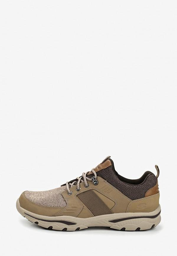 Фото - мужские кроссовки Skechers коричневого цвета