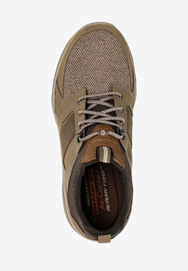 Фото 4 - мужские кроссовки Skechers коричневого цвета