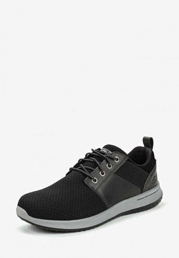 Фото 2 - мужские кроссовки Skechers черного цвета
