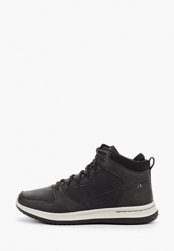 мужские ботинки skechers, черные