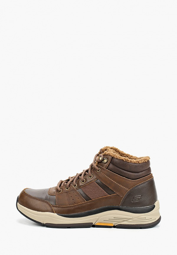 мужские высокие ботинки skechers, коричневые