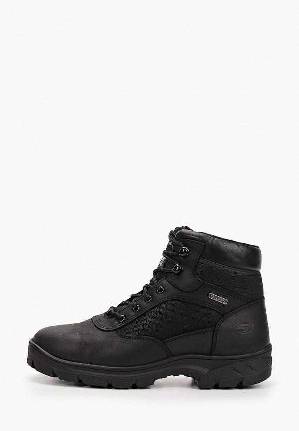 мужские высокие ботинки skechers, черные