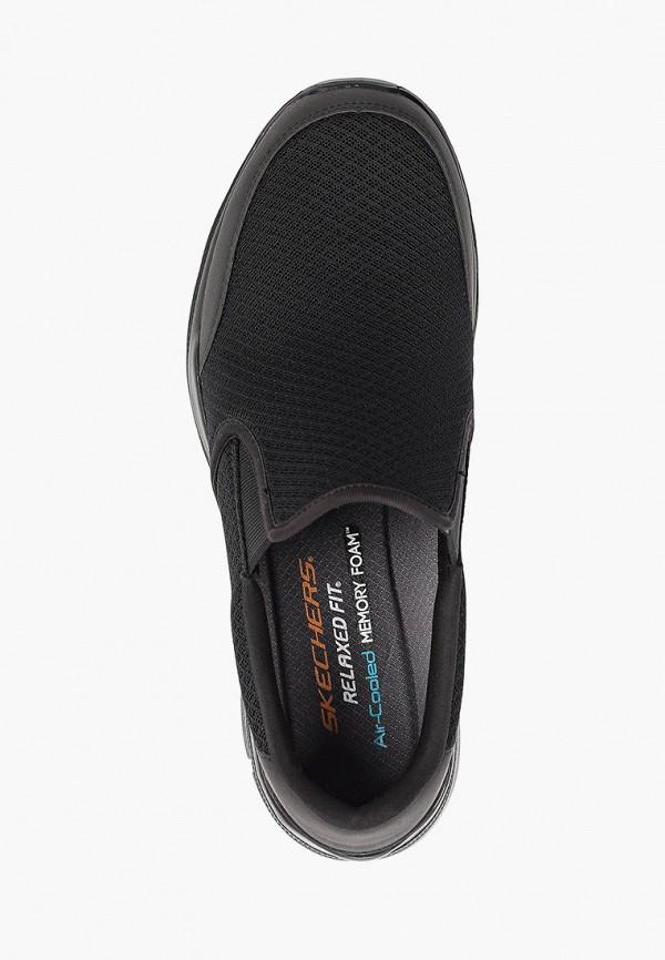 Фото 4 - мужские кроссовки Skechers черного цвета