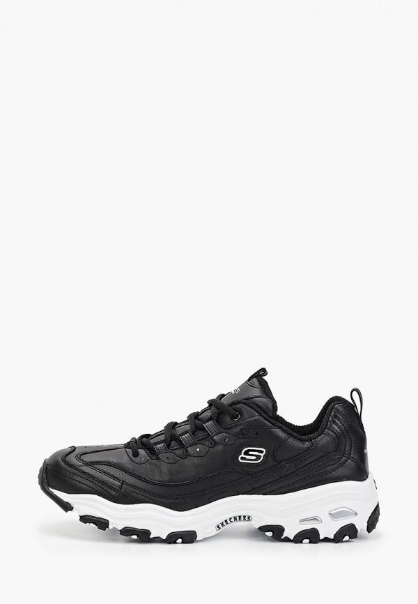 мужские низкие кроссовки skechers, черные