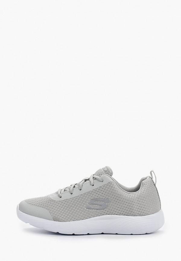 Фото - мужские кроссовки Skechers серого цвета