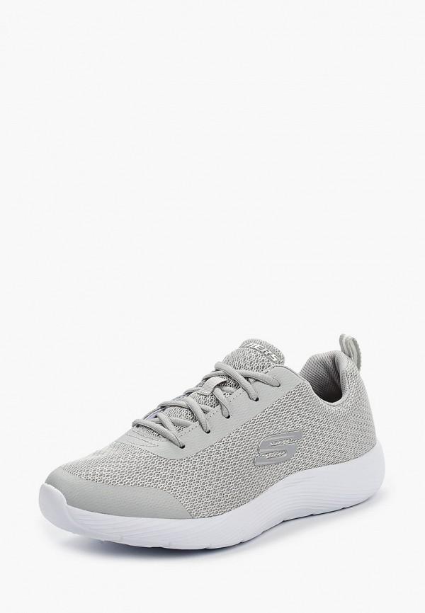Фото 2 - мужские кроссовки Skechers серого цвета