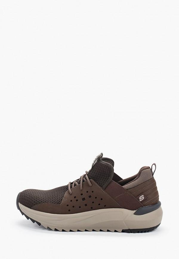 мужские низкие кроссовки skechers, коричневые