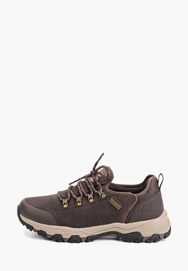 мужские ботинки skechers, коричневые