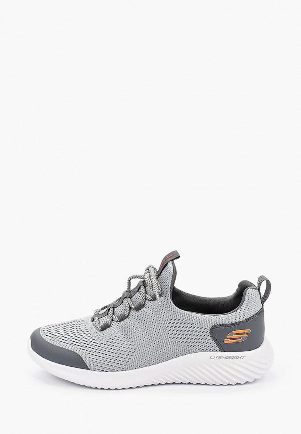 мужские низкие кроссовки skechers, серые