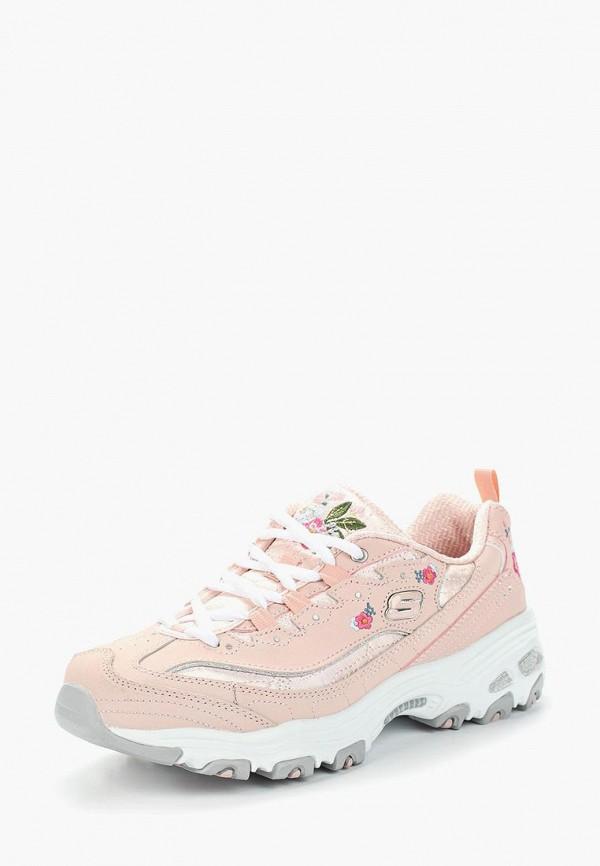 женские кроссовки skechers, розовые