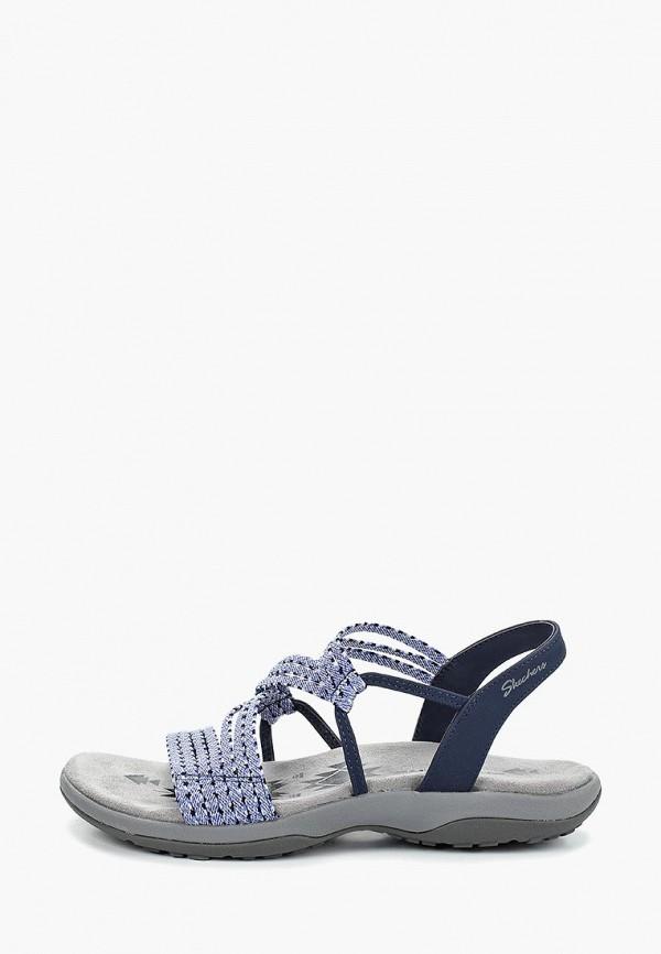 женские сандалии skechers, синие