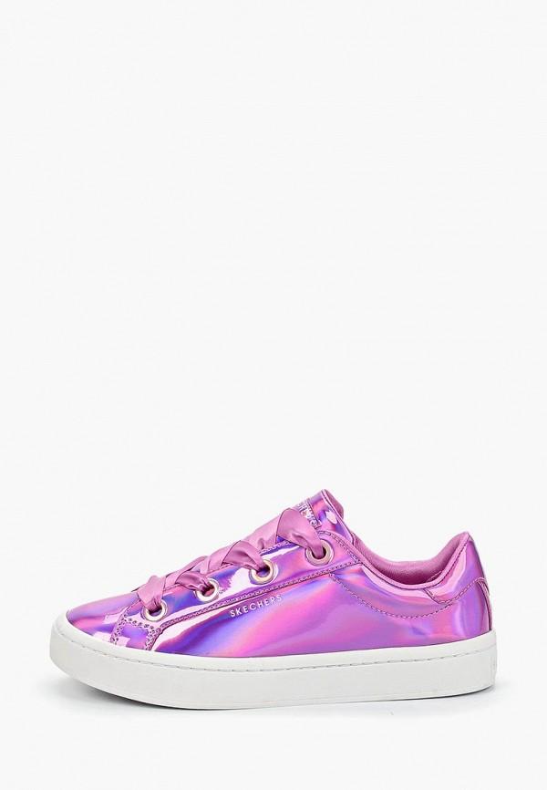 женские кеды skechers, фиолетовые